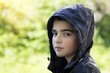 young boy portrait outdoors