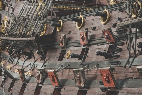 Poster Spanish Galleon Cannons