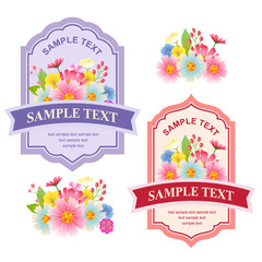 cute floral labels
