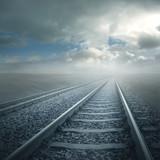 Gleis im Gegenlicht