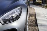 Aufnahme eines Scheinwerfers von einem Auto