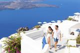 Happy couple in Santorint, Greece