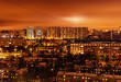 Moscow, Russia. Nagatino-Sadovniki. Night-time lighting.