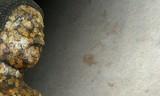Buddha on rock texture