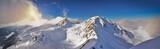 Panoramic winter view of west Tatra mountain. Wolowiec peak