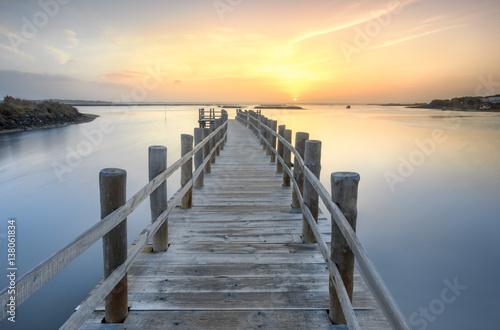 Fotobehang Pier Morning sunrise over the dock