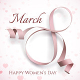 8 March International Womens day greeting card.