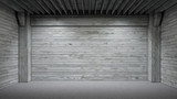 Concrete room with spot lights - 138071867