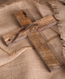 Wood Cross and Nails