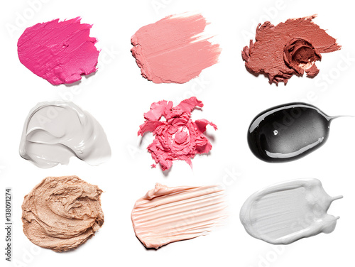 smear paint of cosmetic products - 138091274