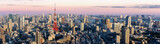 Panorama view of Tokyo city at dusk time , Japan - 138092287