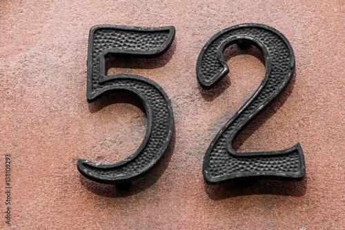 Poster Hausnummer zweiundfünfzig