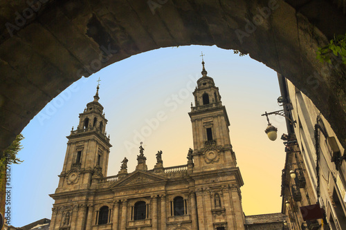 Dawning in Lugo Cathedral