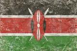 Old Kenya flag texture