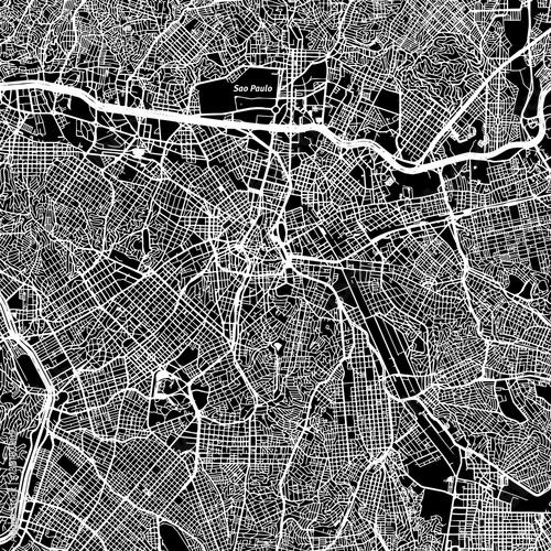 São Paulo One Color Map - 138182809