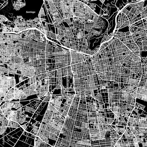 Santiago One Color Map - 138183642