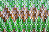 bottles of glass wall background