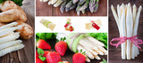 Spargel und Erdbeeren