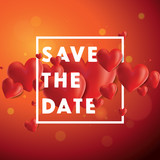 Save the Date Vector Background
