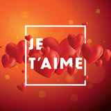 Je Taime Vector Background