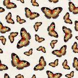 Vector Butterflies Texture Pattern