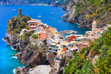 Beautiful small fishing village Vernazza in Cinque terre, Liguria, Italy