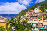 Colorful beautiful villages of Italy - Vernazza in Cinque terre, Liguria