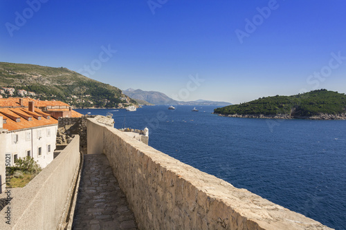 Dubrovnik Adriatic Sea view from City Walls Poster