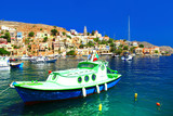 Symi - beautiful colorful island of Greece, Dodecanesse