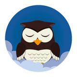 owl sleep character icon vector illustration design