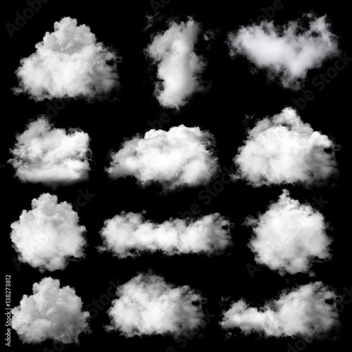 Fototapeta clouds on black background