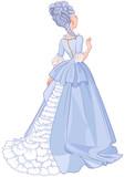 Lady in Beautiful Blue Dress