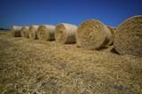 Getreideballen aus Stroh