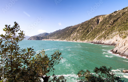Foto op Canvas Liguria Wonderful landscape and spring colors of Cinque Terre - Italy