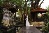 Bride and groom in Bali on their honeymoon