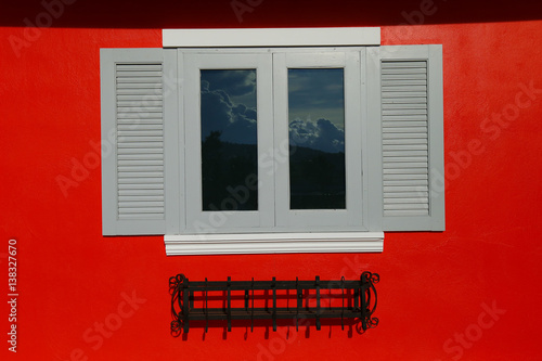 wooden window Poster