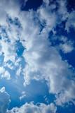 Leicht wolkiger Himmel mit freundlichen Wolken