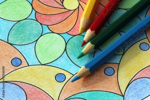 Stress reduction, Mandala ausmalen zum Stressabbau, Malbuch für Erwachsene Poster