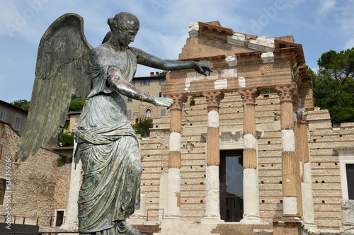 The Winged Venus and the Roman Forum of Brescia - Italy Poster