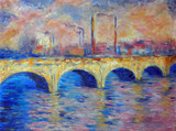 Original oil painting on canvas - London Bridge in impressionism style