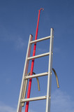 Stainless steel boat boarding ladder and boat hook