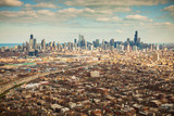 Aerial view of Chicago, Illinois - 138401239