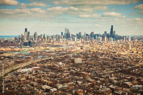 Poster Chicago Aerial view of Chicago, Illinois