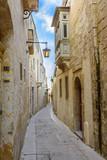 Maltese narrow street in Mdina.