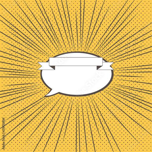 集中線と吹き出しのイラスト - 138430804