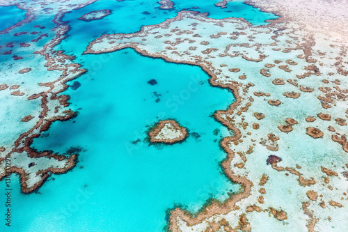 Foto op Canvas Turkoois Heart Reef Whitsundays