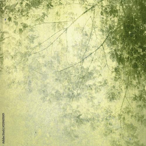 Fototapeta Vintage Painting Treetop