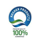 Kosher products blue ribbon label logo icon