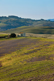 Typical landscape of Orcia Valley, Tuscany, Italy
