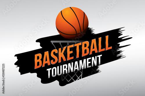 Basketball tournament. Vector illustration